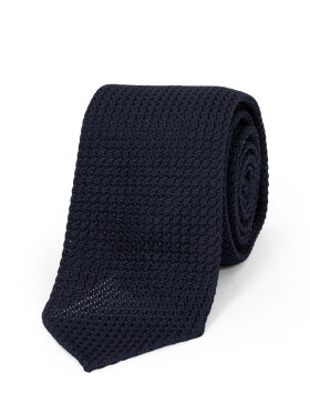 AN IVY - Solid Navy Grenadine Ties