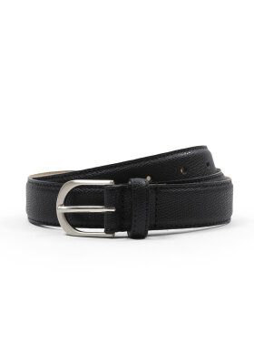 AN IVY - Black Pebblegrain Belt Belts